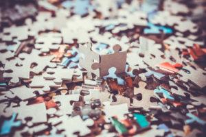 Puzzle structure image de marque